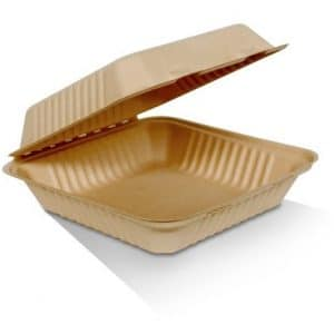 Bamboo Takeaway Clam Shell 9""