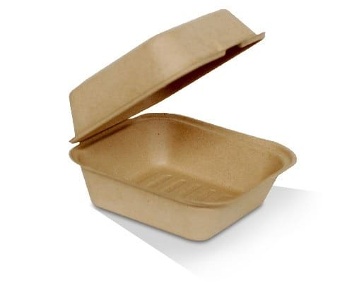 Bamboo Takeaway Burger Clam Shell